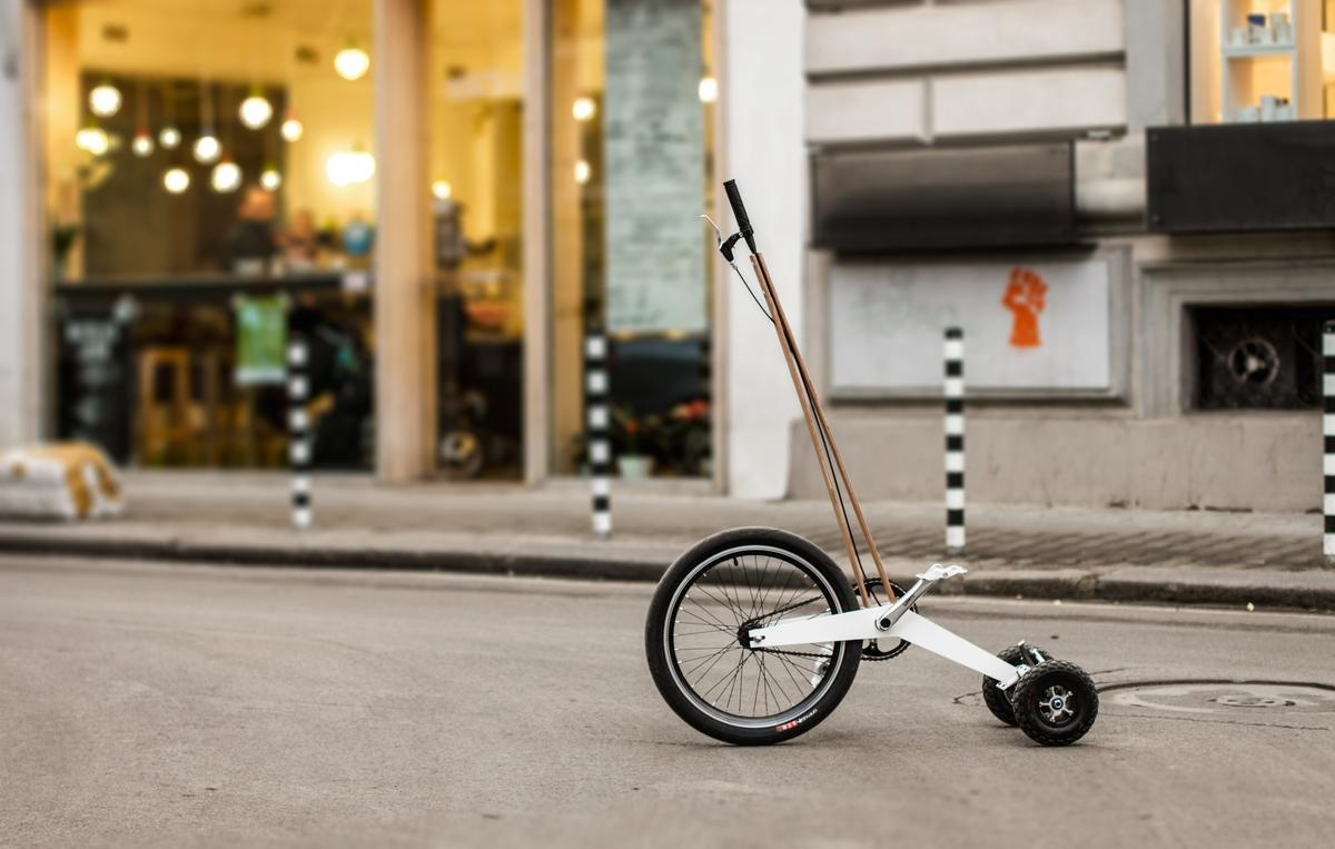 Kolelina is looking to raise US$80,000 through Kickstarter in order to manufacture and sell the Halfbike for $800