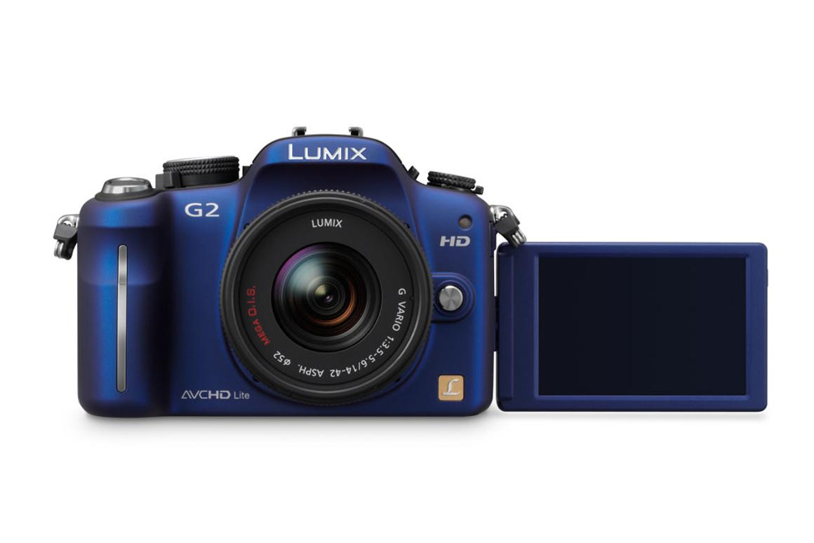 Panasonic's Lumix DMC-G2 featuring a rotating touchscreen display