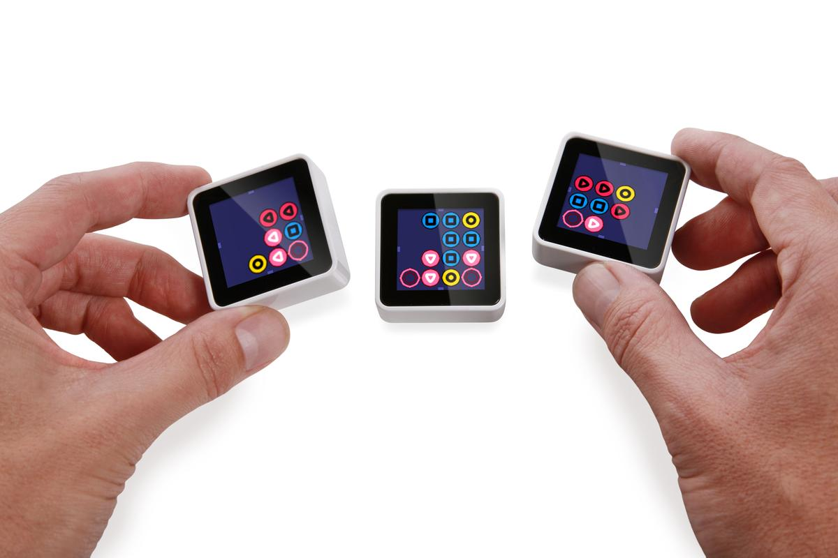 Sifteo Cubes are 1.5-inch gaming blocks with full color screens that respond to motion, and interact with the player and each other as they are moved around