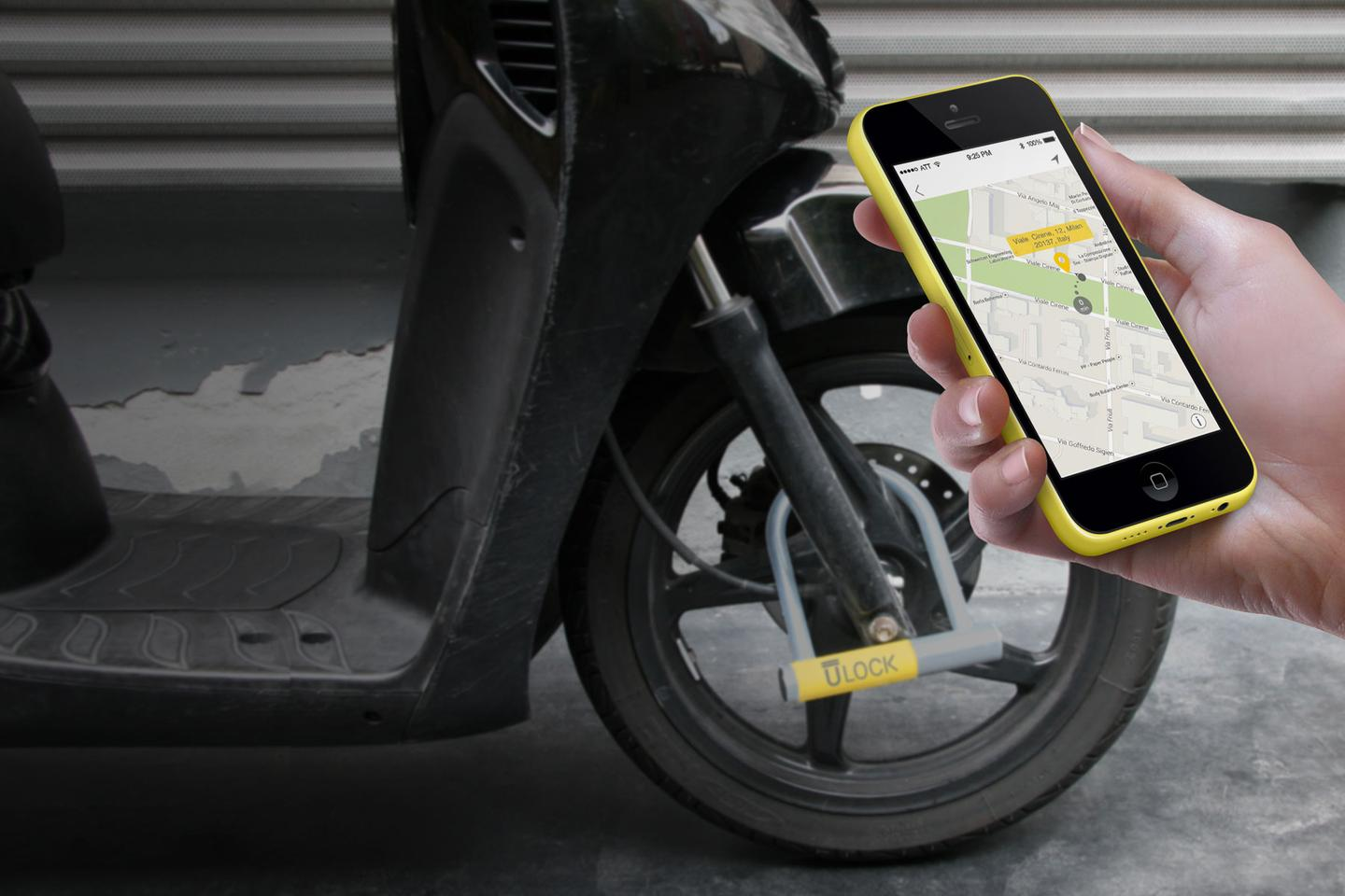 The Ulock is locked and unlocked via the user's smartphone