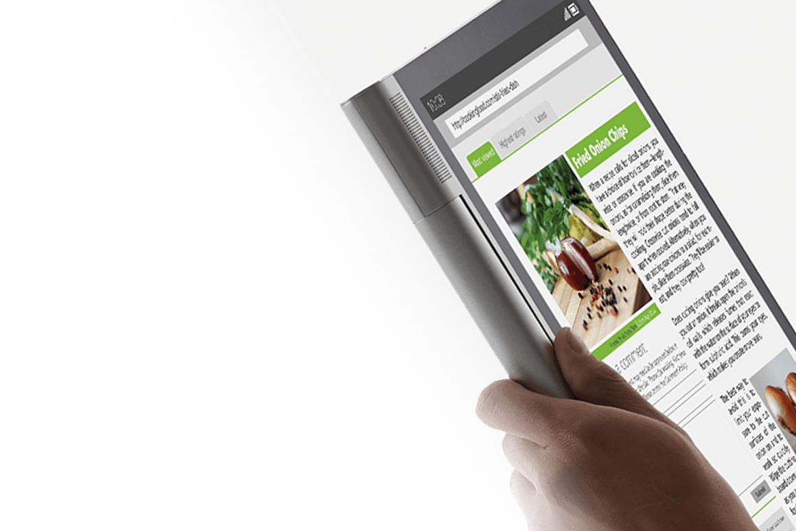 All five of Lenovo's new tablets have asymmetrical designs, with a cylinder sitting on one side