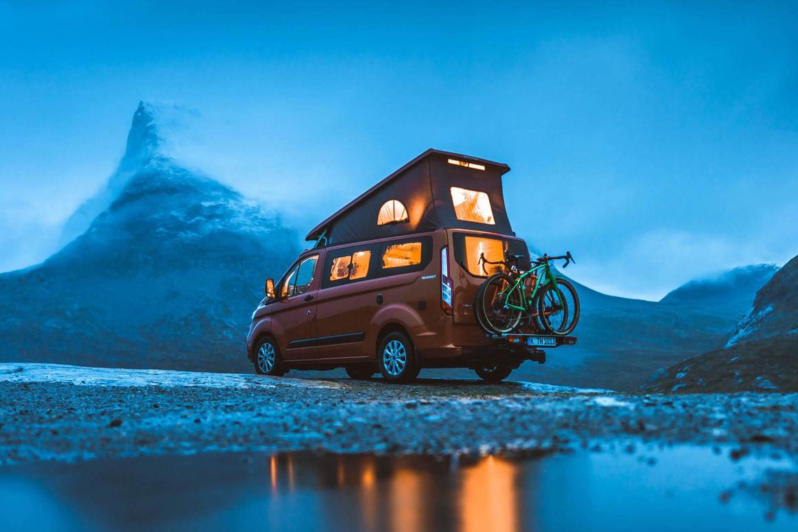 """The first of Ford's """"Great Escapes"""" YouTube series shows a pair of Nugget adventurers traveling around Norway"""