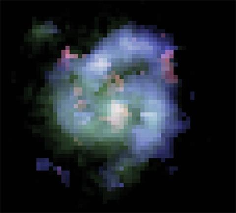 False color composite image of BX442 (Image: Joe Bergen/Dunlap Institute for Astronomy & Astrophisics)