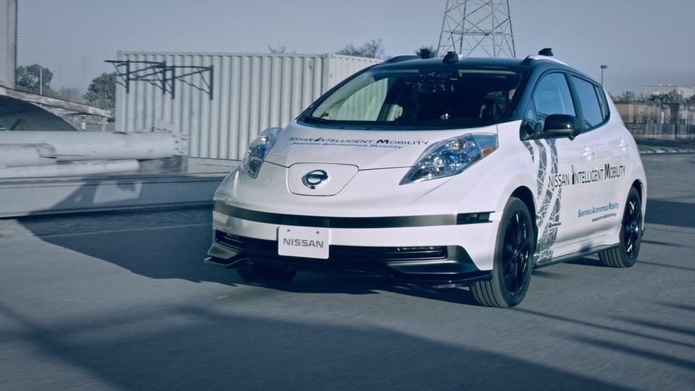 A Nissan Autonomous Drive Technology demonstrator vehicle