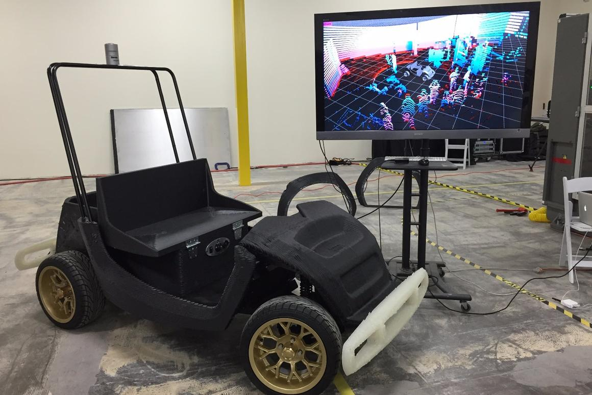 Initially, the 3D-printed SmartCart will undergo testing at a special site run by the Mobility Transformation Center, before rolling out to the North Campus of the University of Michigan