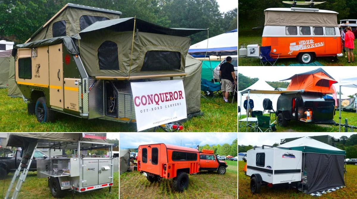 Trailers on display atOverland Expo East 2016