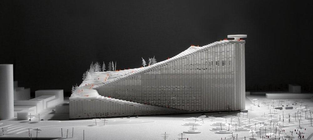 The Bjarke Ingels Group-led CopenHill is apower station with a smoke ring generator that will expel a ring each time250 kgof carbon dioxide is produced