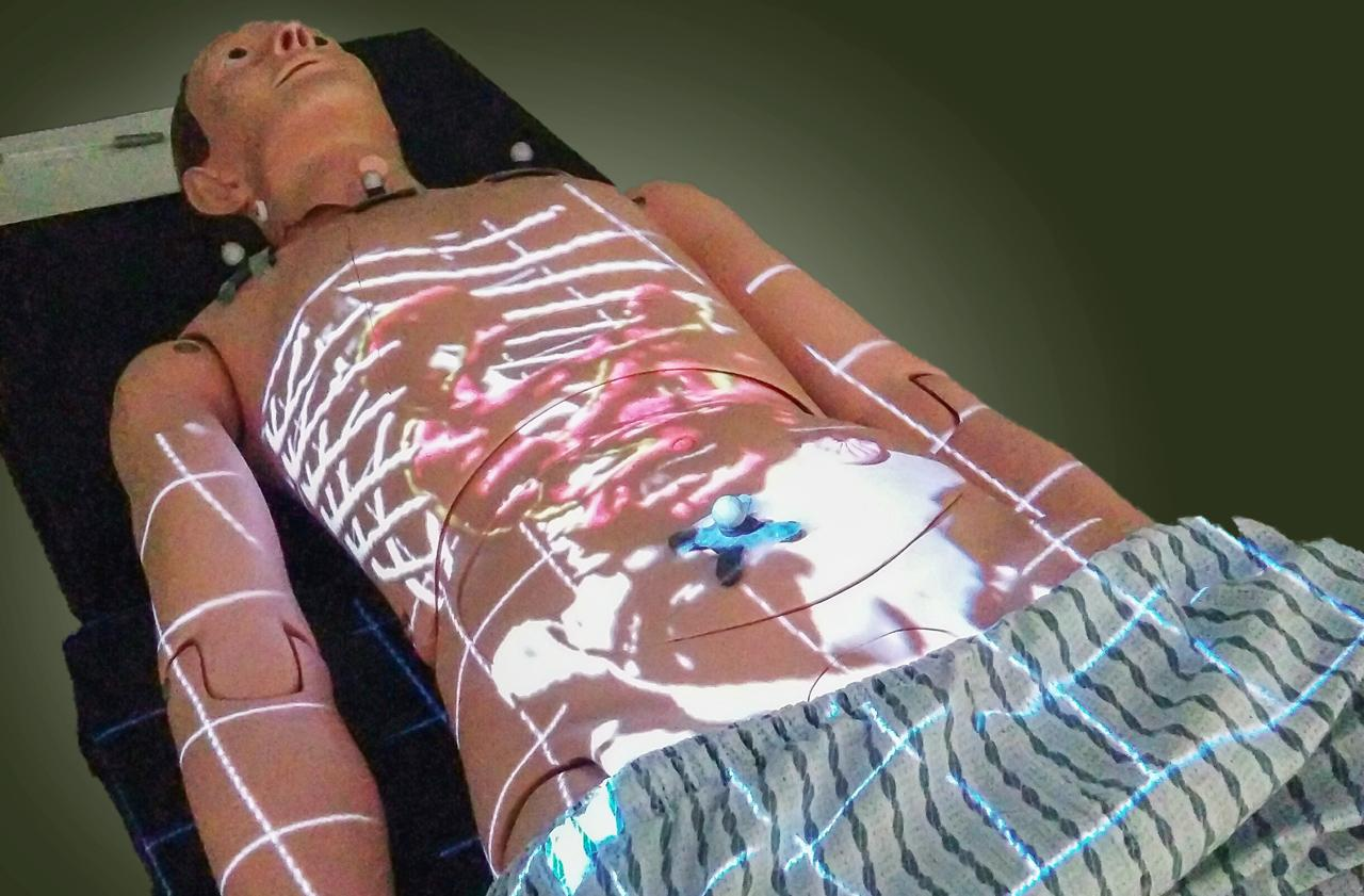 ProjectDR is demonstrated on a mannequin