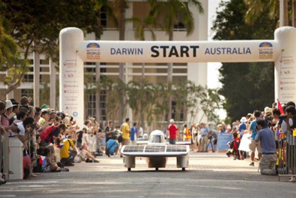 The 2011 World Solar Challenge kicked-off today in Darwin, Australia