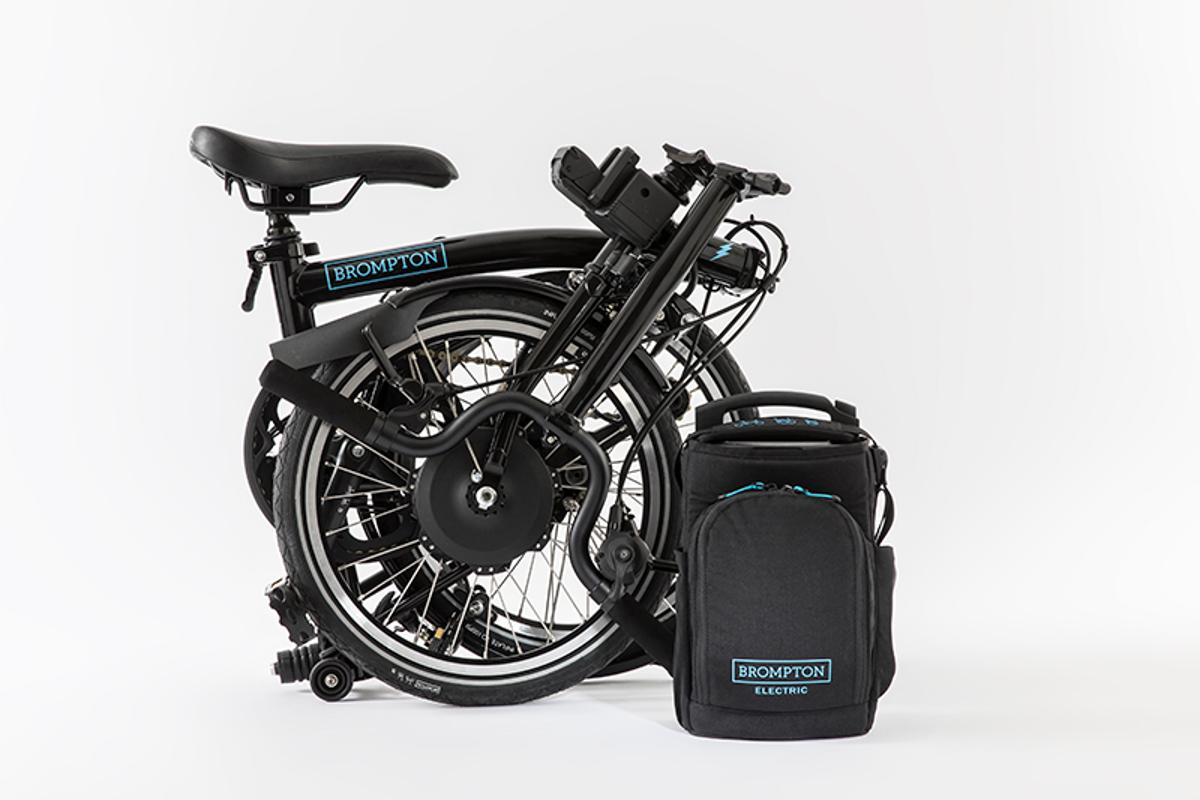 The Brompton Electricfolds up to the same size as the company's non-electric models