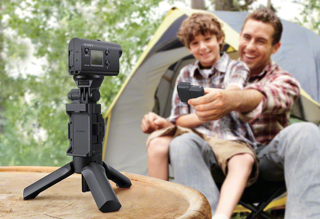 The Sony HDR-AS50 action camera is compatible with Sony's Action Cam App and a new Live-View Remote