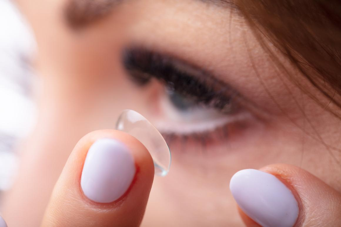 The therapeutic contact would be applied just like a normal lens, one of which is pictured here
