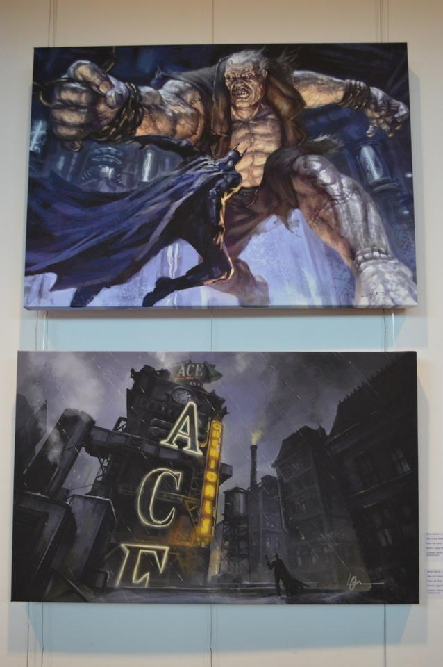 Grundy Battle (top) by Kan Muftic and Ace Chemicals (bottom) by Lee Oliver, both from Rocksteady's Batman: Arkham City