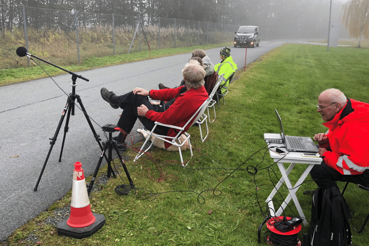 Tests of the system were performed at a quiet location in Tiller, near the Norwegian city of Trondheim