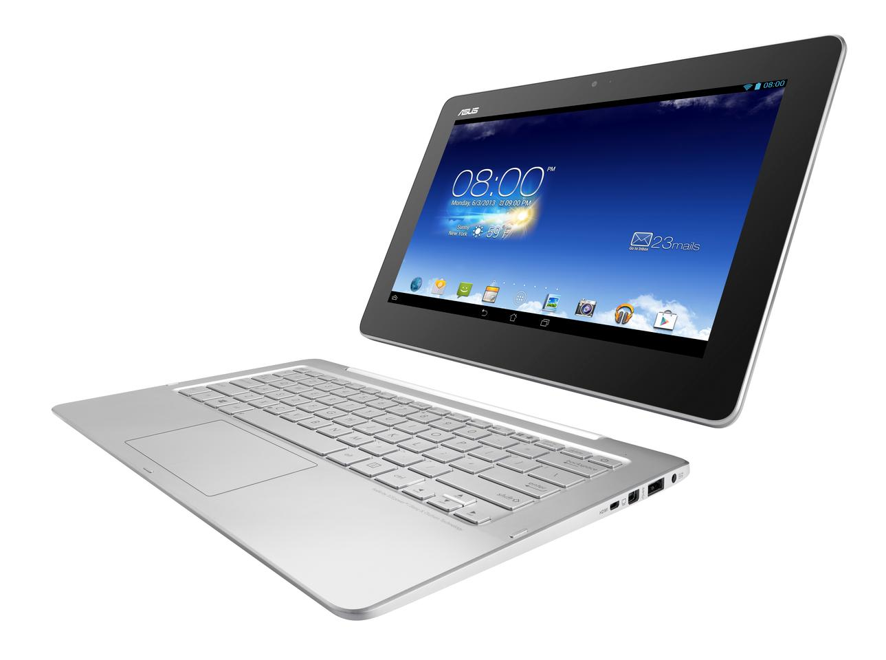 The Trio features an 11.6-inch, 1920 x 1080 resolution IPS display that can be docked to the keyboard base for Windows 8 notebook mode, or separated for Android (Jelly Bean) tablet mode