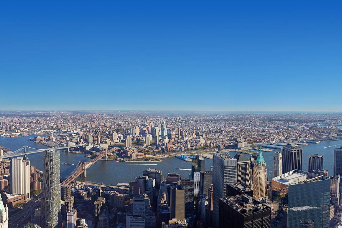 View from the top: New York's One World Observatory will offer visitors a view of New York City from over 381 m (1,250 ft) high (Photo: Evan Joseph Images)