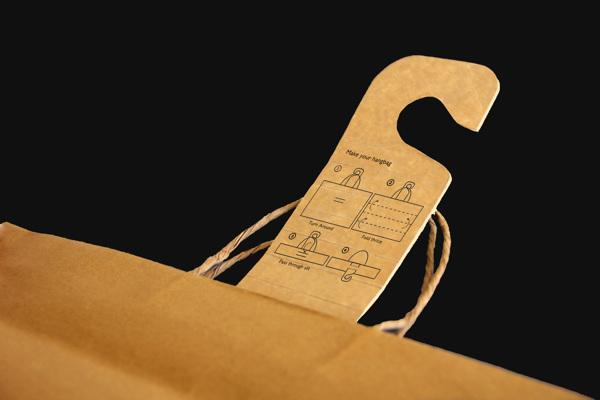 Each Hangbag comes with simple instructions on how to transform it from bag to hanger