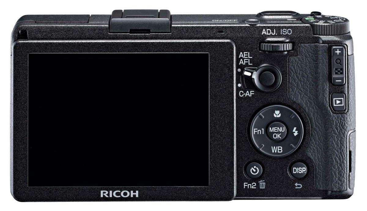 The 3-inch LCD on the rear of the Ricoh GR has a respectable 1,230k dots