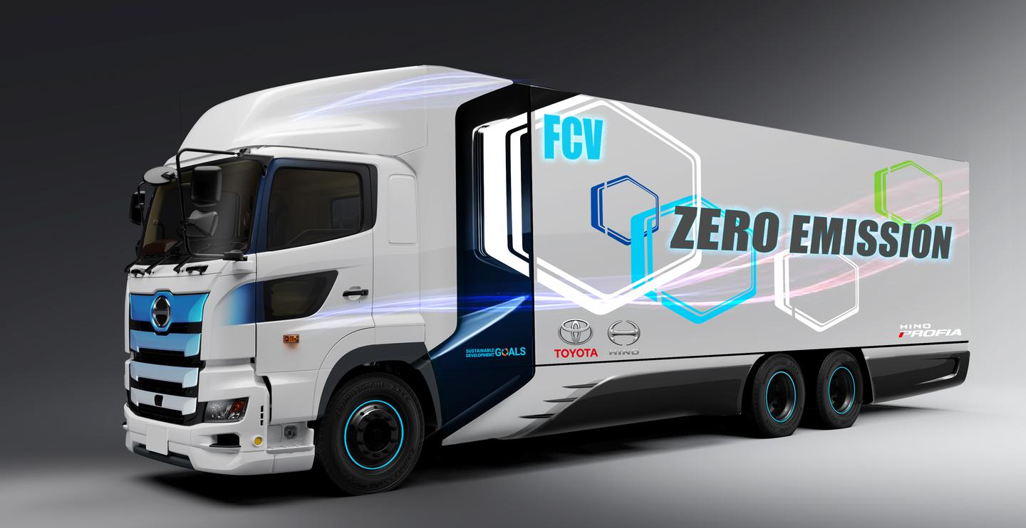 The heavy duty fuel cell truck will be based on Hino's Profia model