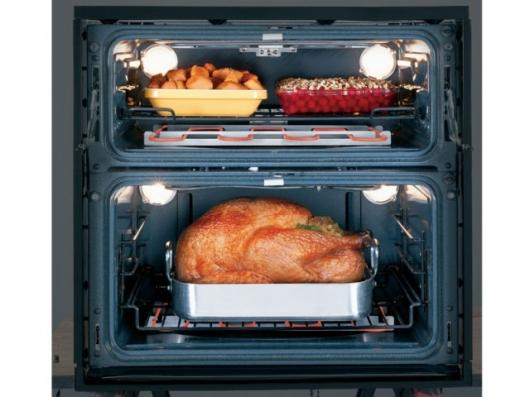 The GE Profile single/double wall oven