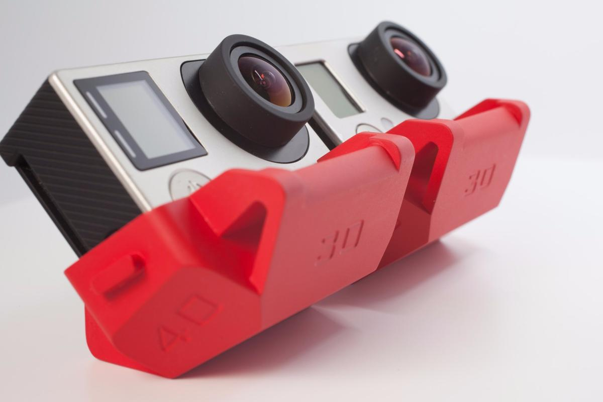 Slopes is a polyhedron stand for GoPro action cameras