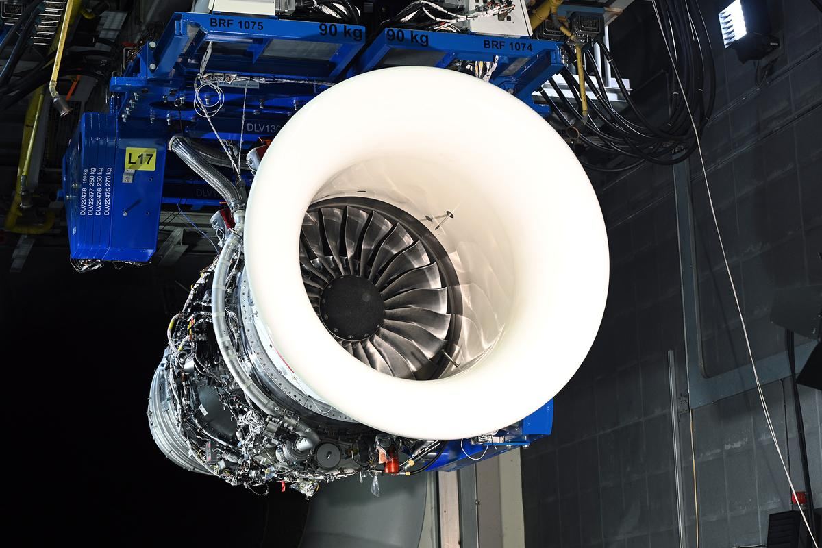 The Pearl 700 engine used to test the 100 percent sustainable aviation fuel