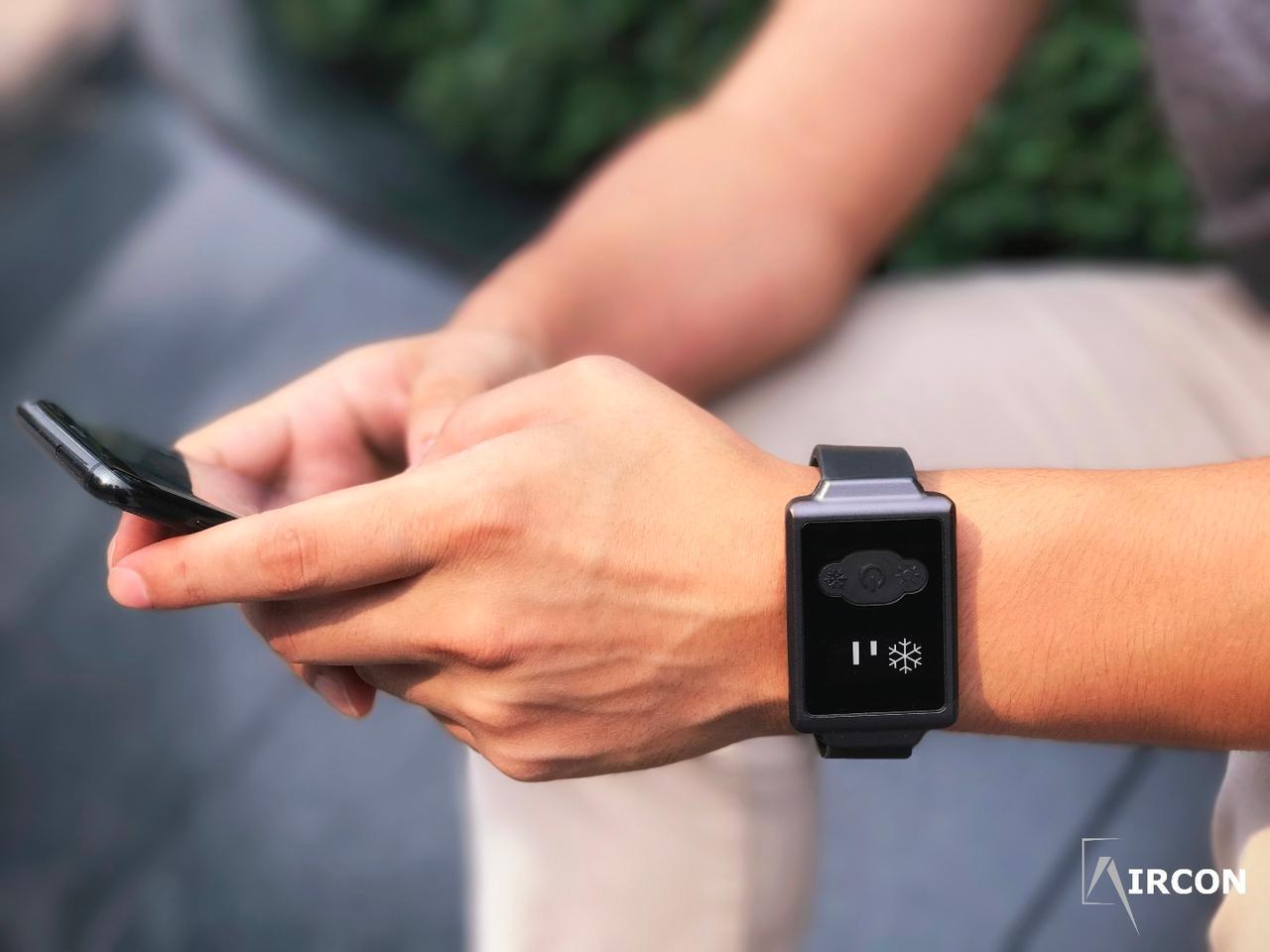 The Aircon Watch runs on a 400-mAh battery