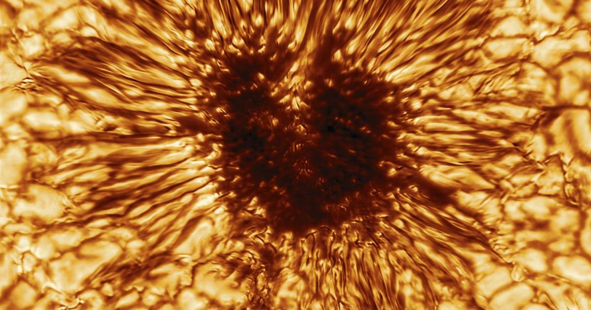 World's largest solar telescope captures its first dramatic sunspot image