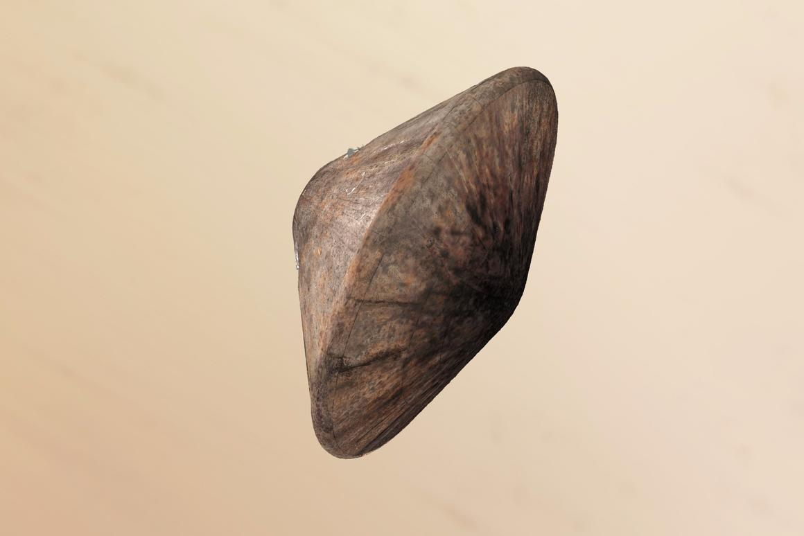 Artist impression of the Schiaparelli module before deploying its  parachute
