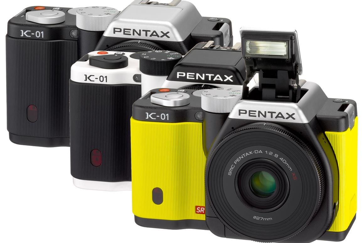 Pentax Ricoh has teamed up with noted designer Marc Newson to create the Pentax K-01 interchangeable lens camera, and a new pancake lens that's said to be the world's thinnest