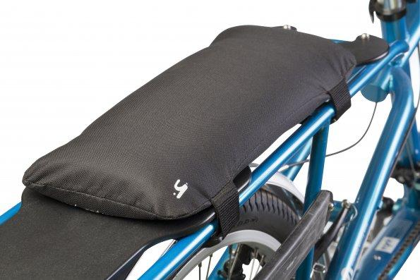 The seat pad for the All-Terrain fits on top of the platform that bolts to the rear wrack