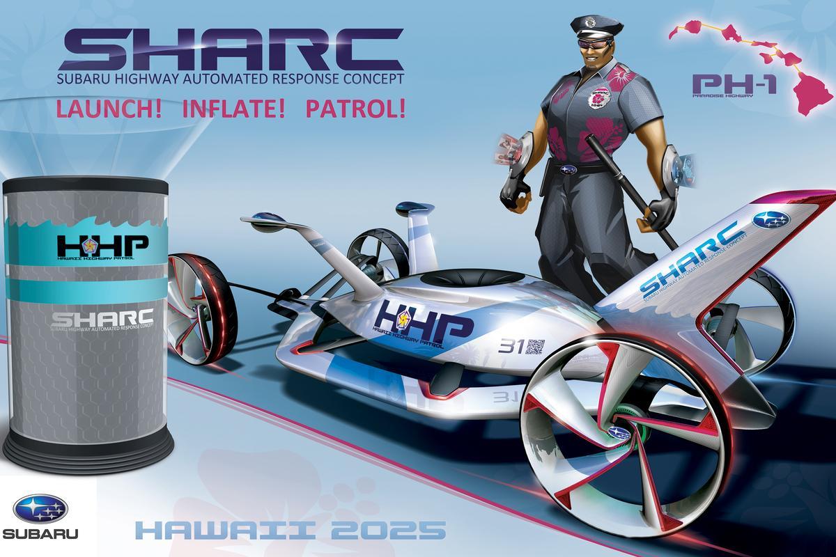The Subaru SHARC has taken out the 2012 LA Design Challenge