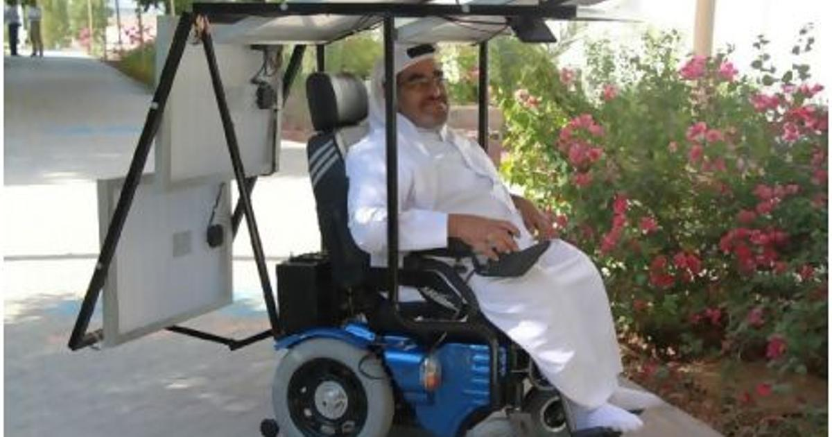 Across the UAE in eleven days in a solar-powered wheelchair