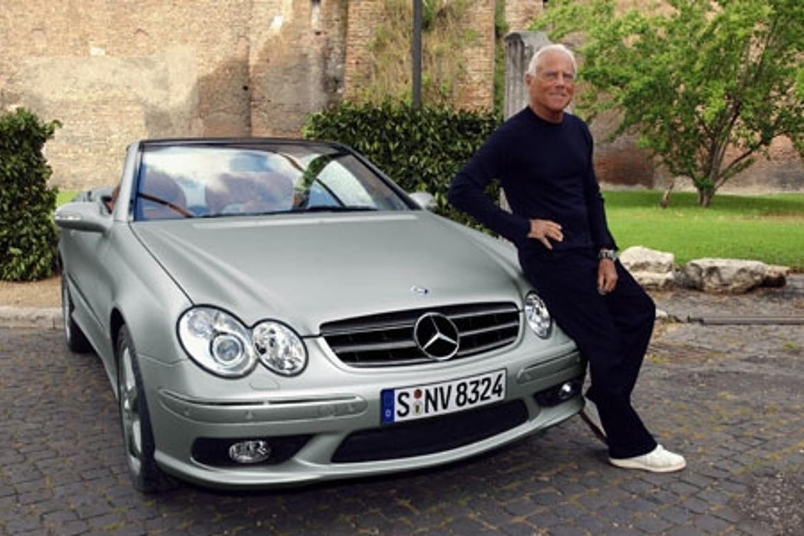 The CLK-Class Cabriolet and designer Giorgio Armani