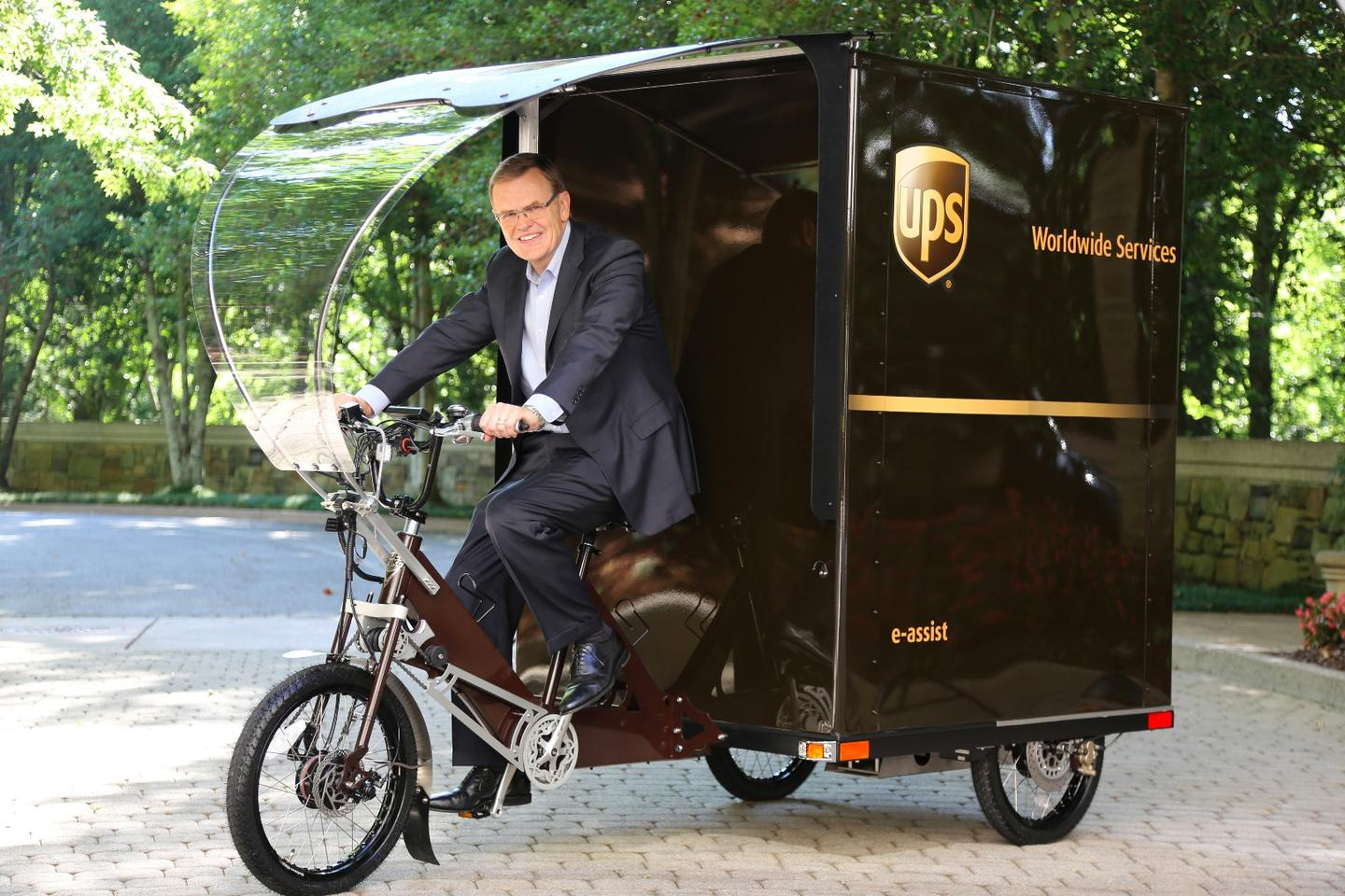 UPS Chairman and CEO David Abney on the Portland-based Cargo Cruiser