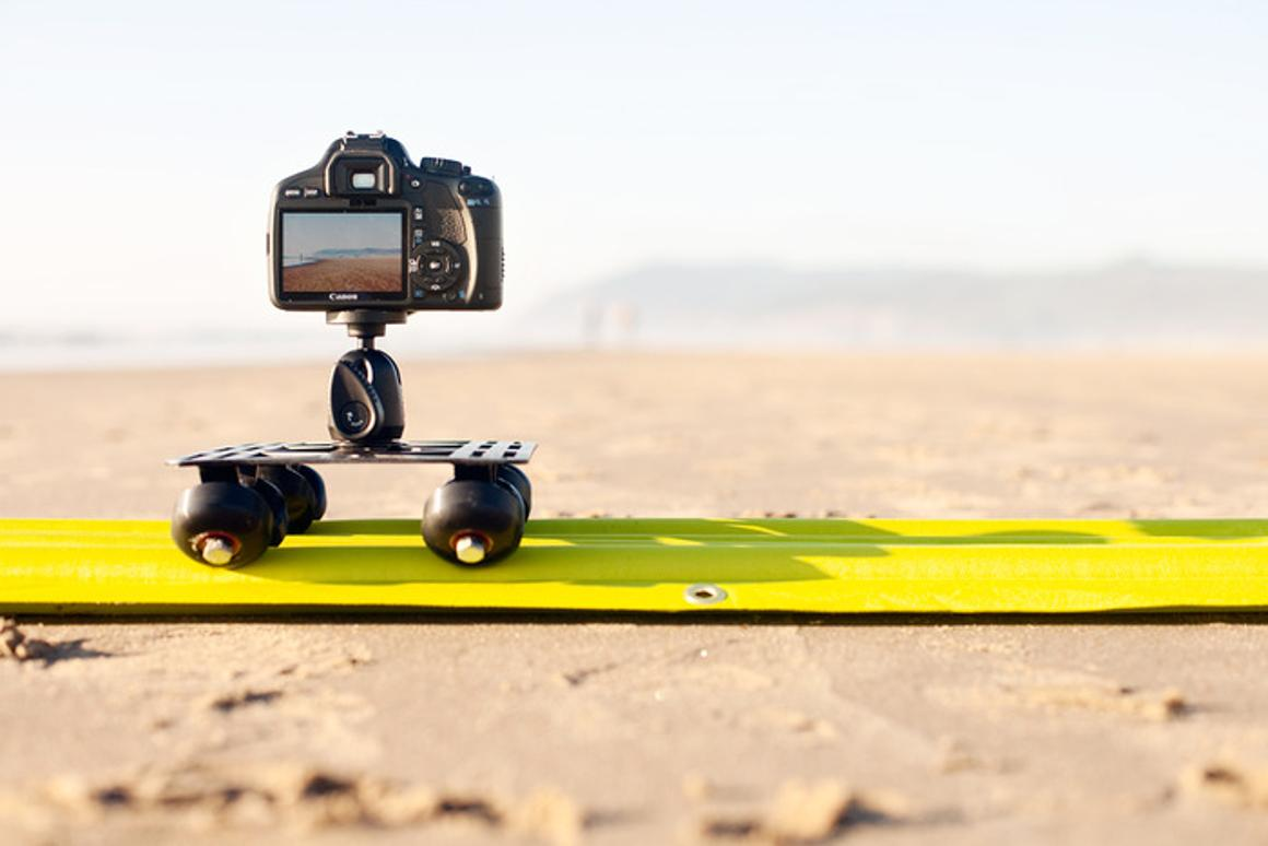 AirTracks is a light, inflatable camera slider