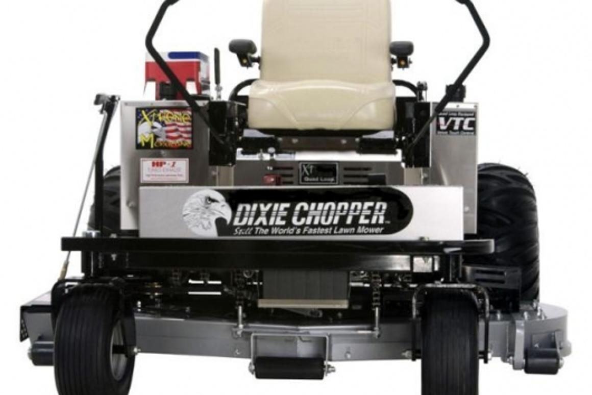 The world's fastest lawnmower - 990cc and 15mph