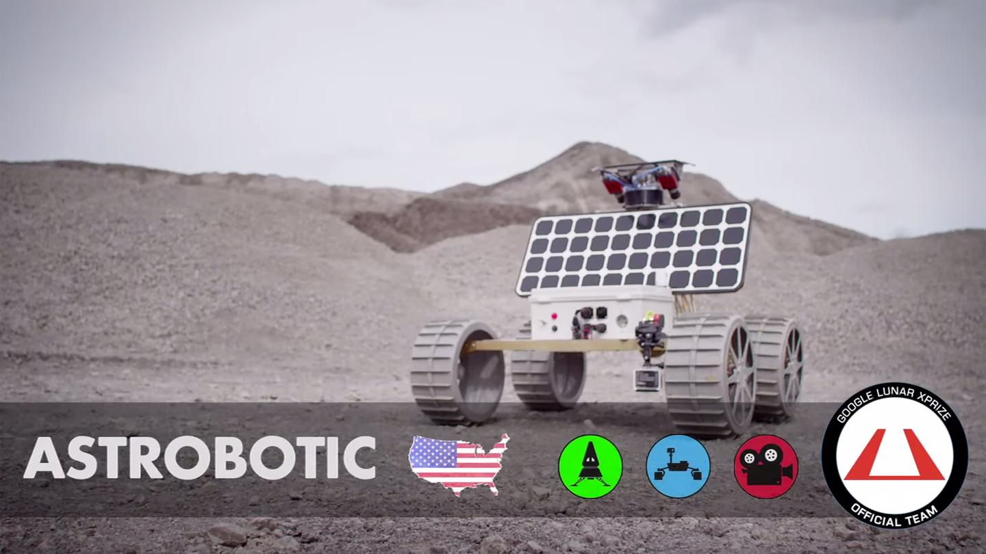Of the entrants, three teams stand out, with Astrobotic having been awarded a prize in each of the three categories, and both Moon Express and Part-Time Scientists receiving two.