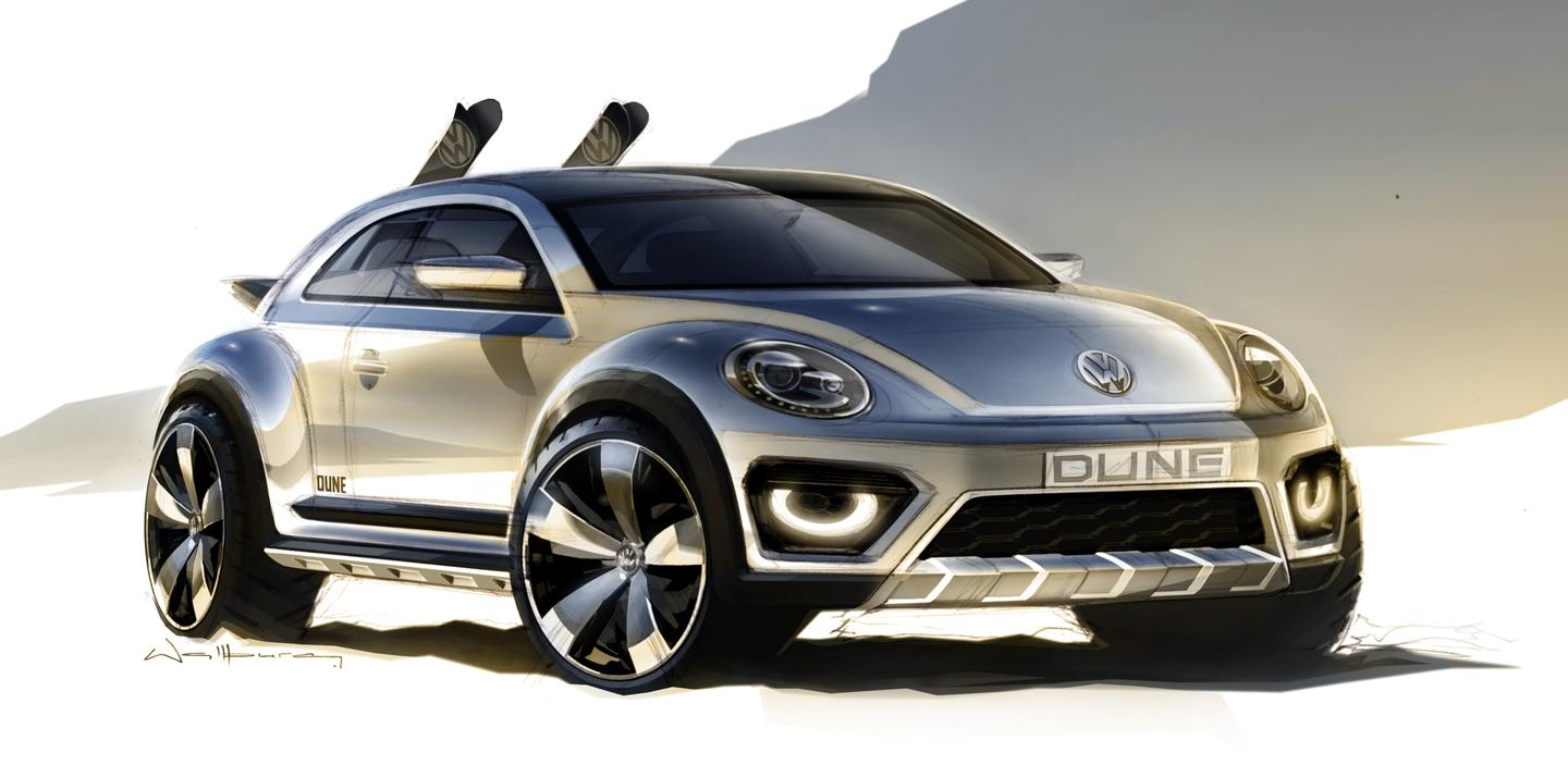 First sketch of the 2014 Beetle Dune concept