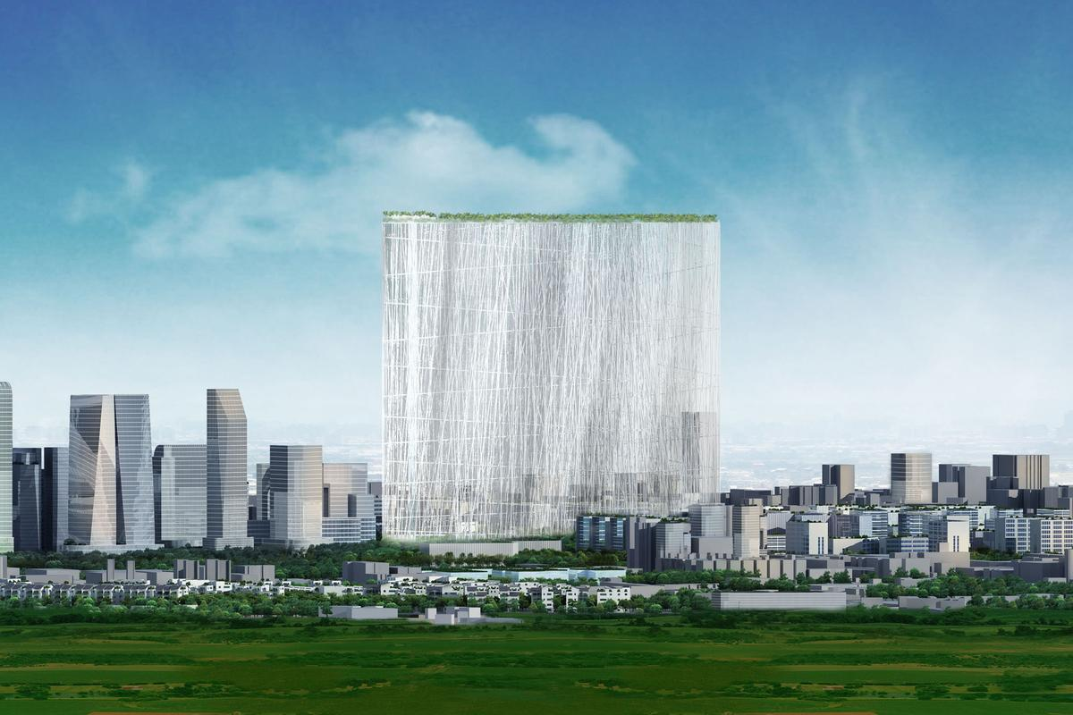 "The winning Sou Fujimoto concept features a tower that in essence is a ""21st Century Oasis"" (image:Sou Fujimoto)"