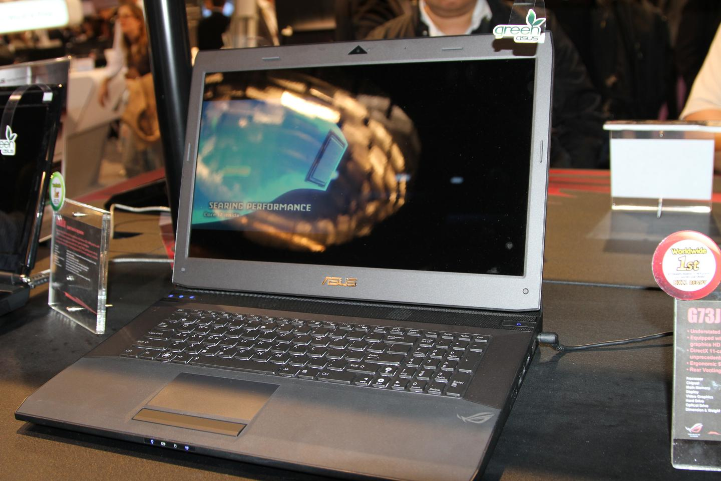 The G73Jh on display at CES 2010