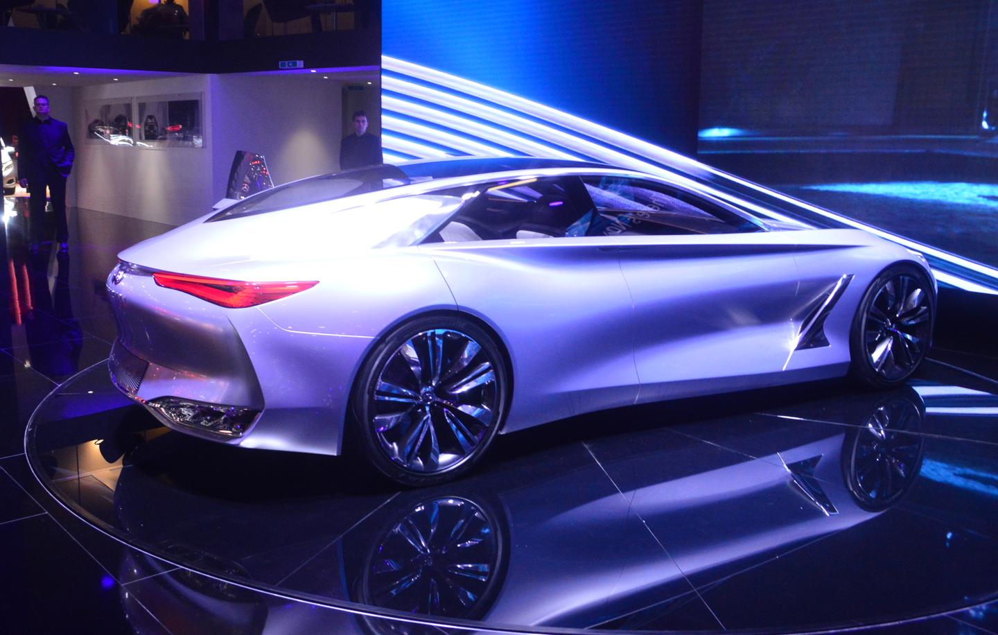 The Infiniti Q80 Inspiration makes its debut at the Paris Motor Show (Photo: C.C. Weiss/Gizmag)