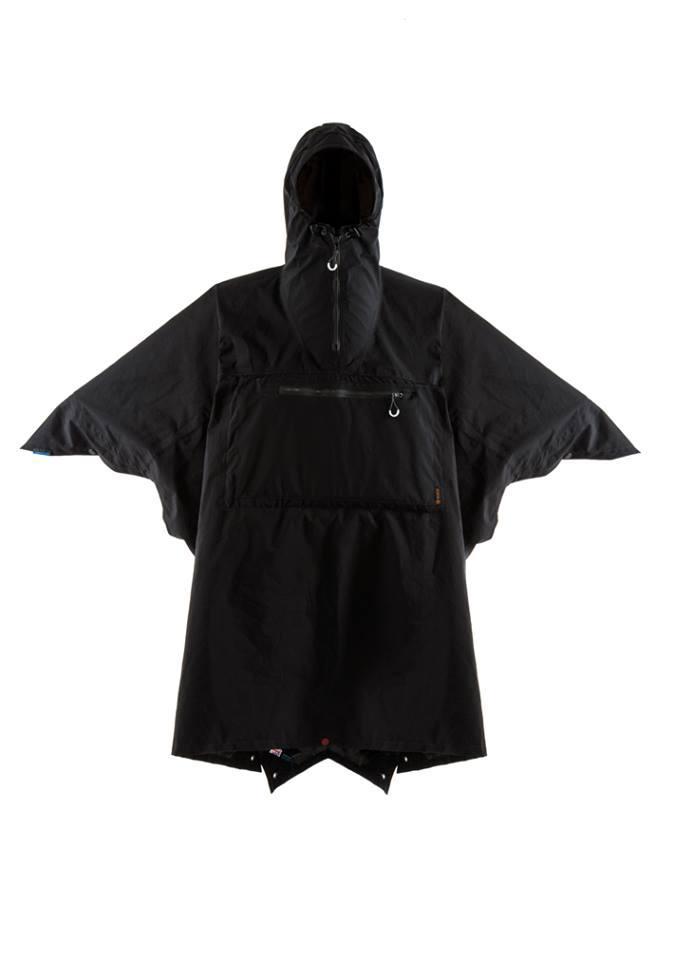 The eVent three-layer Vamoose poncho packs three functions into one garment