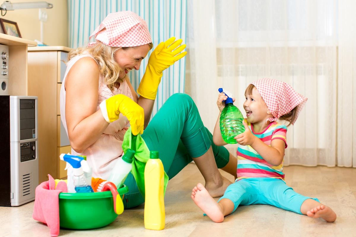 Scented and sprayed cleaning products have been linked with the highest rates of children developing asthma
