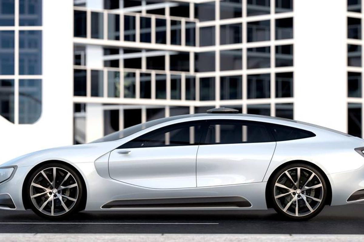 The LeSee concept features a long but sporty profile