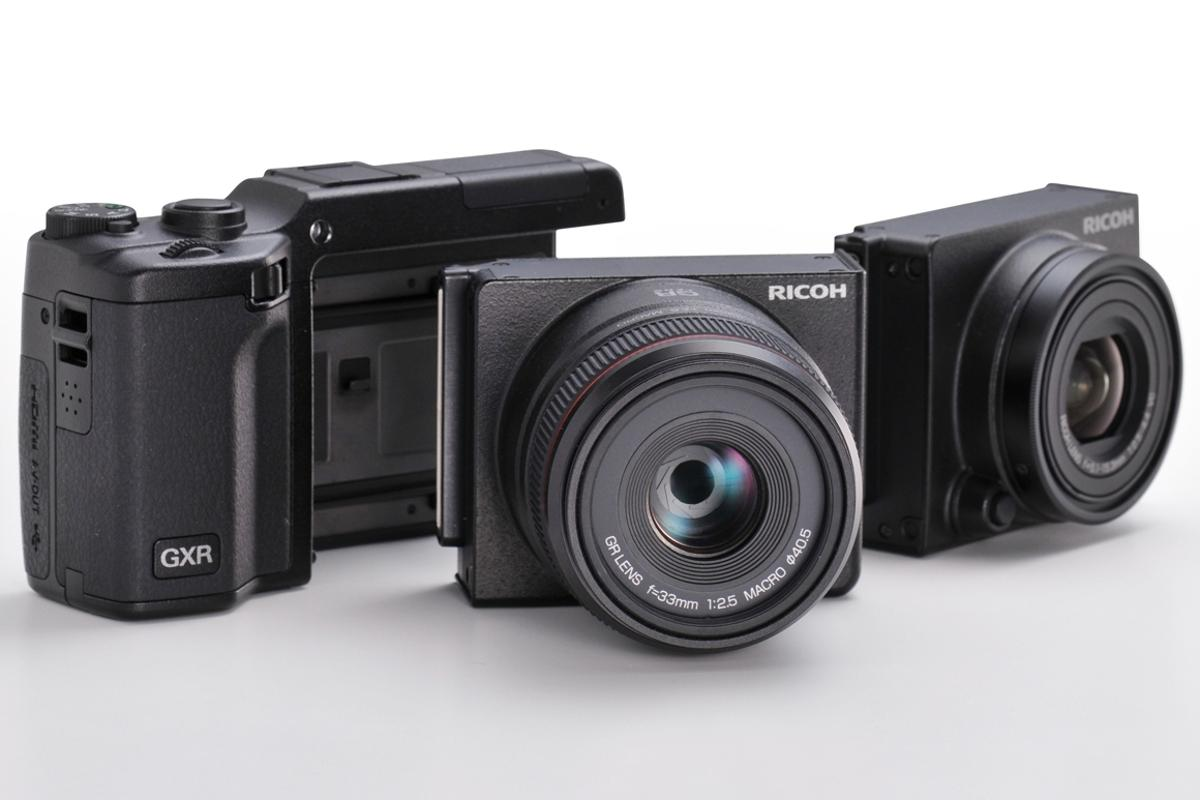 The Ricoh GXR platform shown with previously released A12 50mm and S10 lens modules