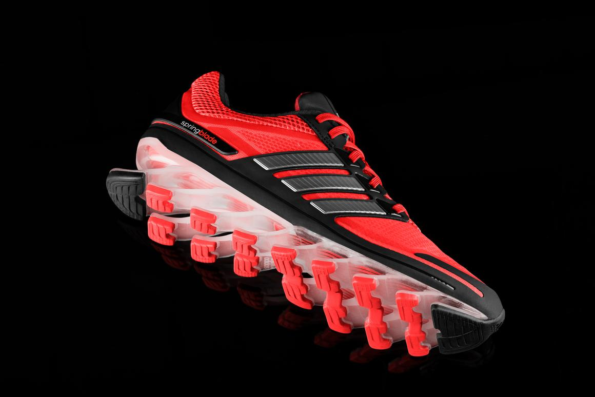 Adidas recently revealed its new Springblade running shoes, which feature angled elastic blades on the soles