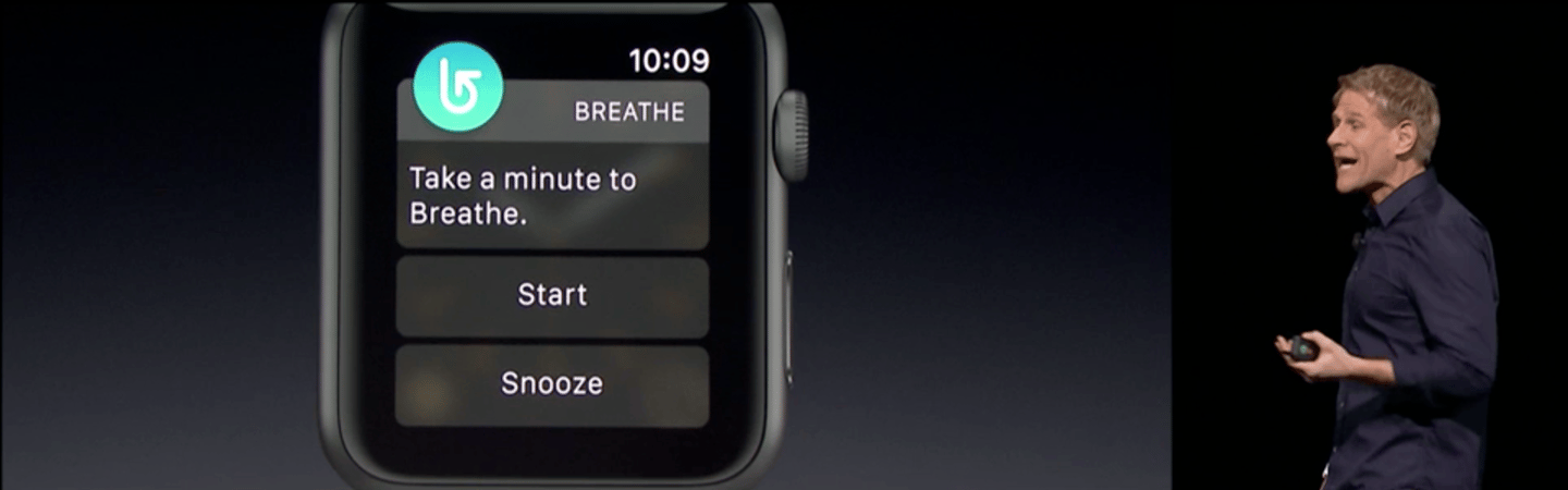 """A new app called """"Breathe"""" is meant to bring more peace to Apple Watch wearers"""