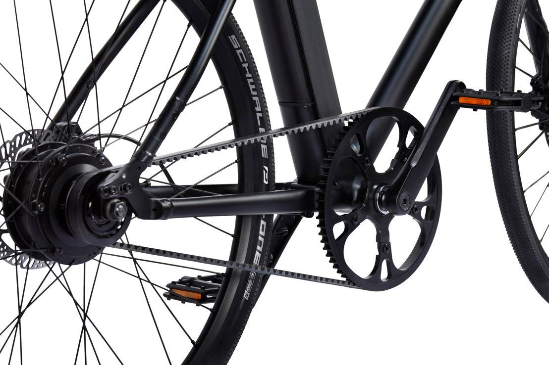 The Cowboy e-bike is belt-driven, rather than chain