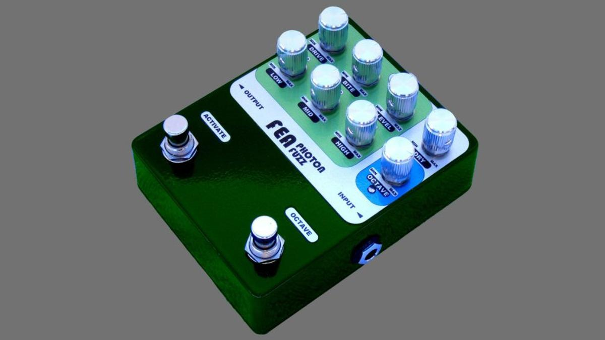 The Photon Fuzz from Fea Labs gets its name from an active component in the circuit which uses infrared light to control the fuzz distortion element, and features a wealth of tone tweaking circuitry